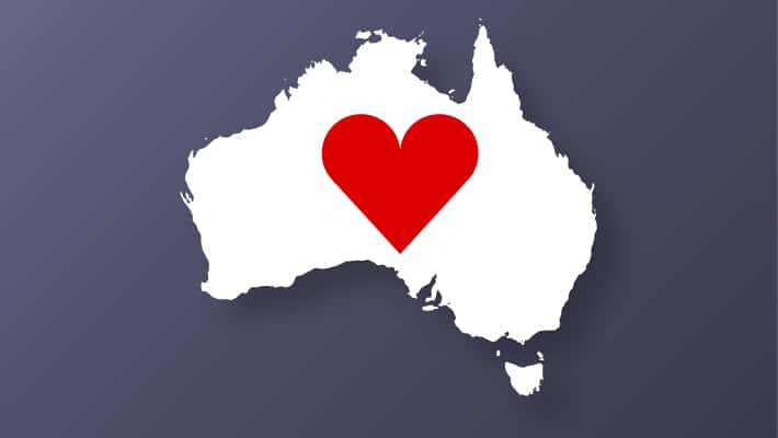 Map Australia love