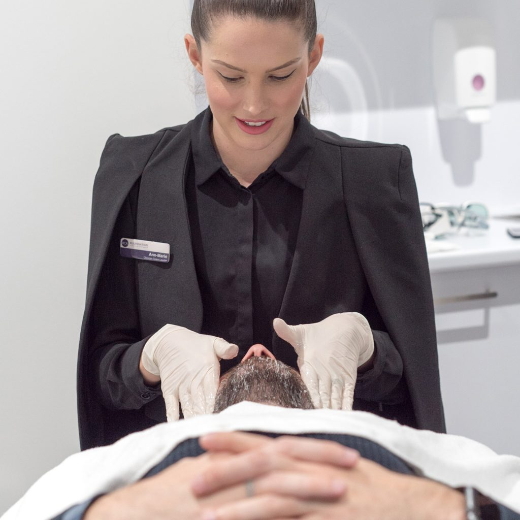 carbon laser facial preparation