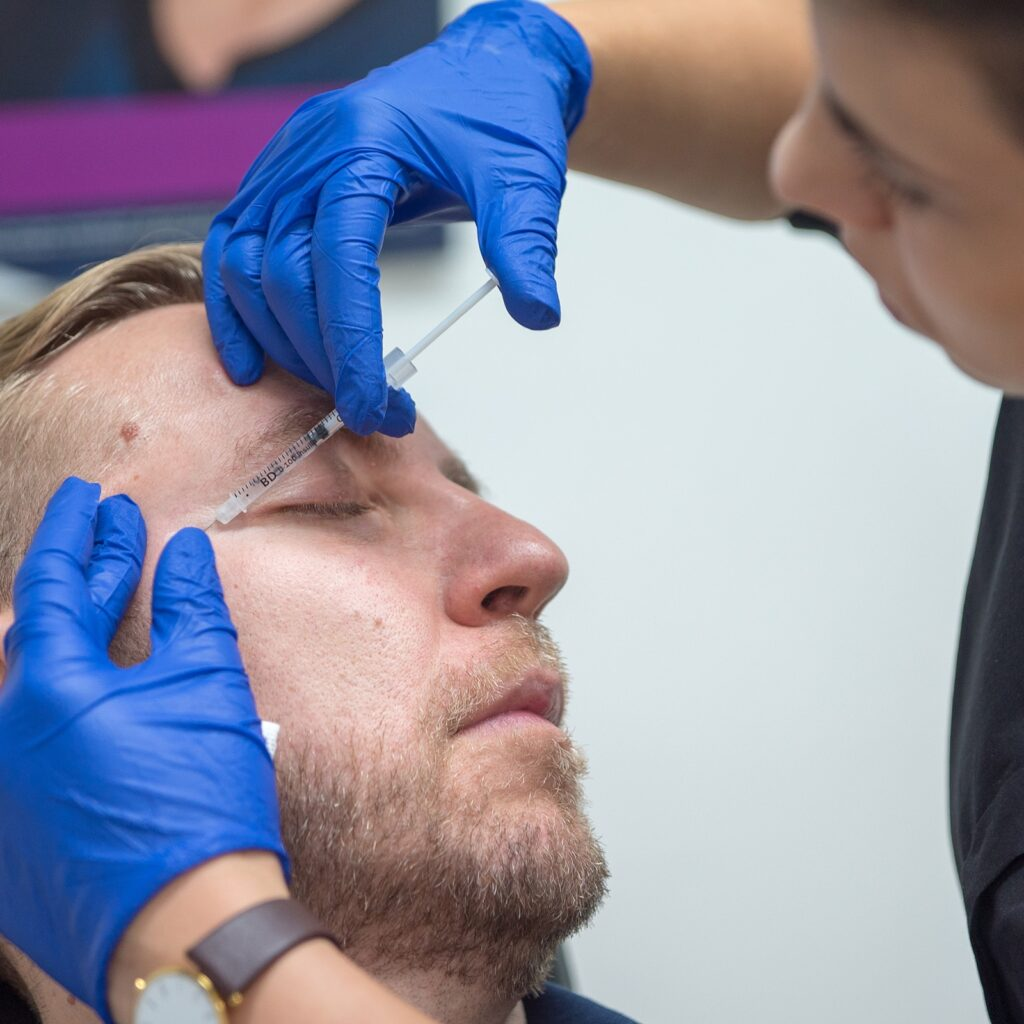 crows feet wrinkle injections male