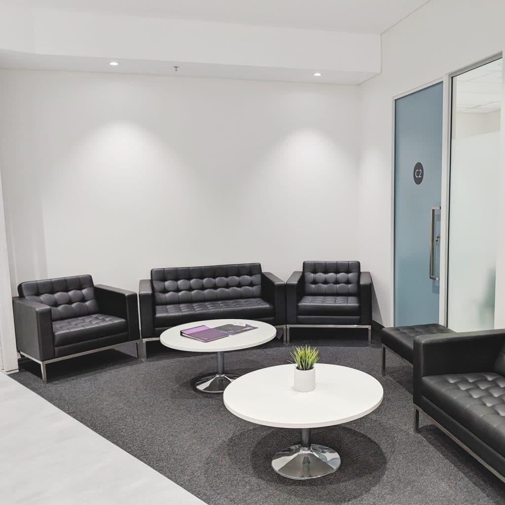 rejuvenation clinic waiting area
