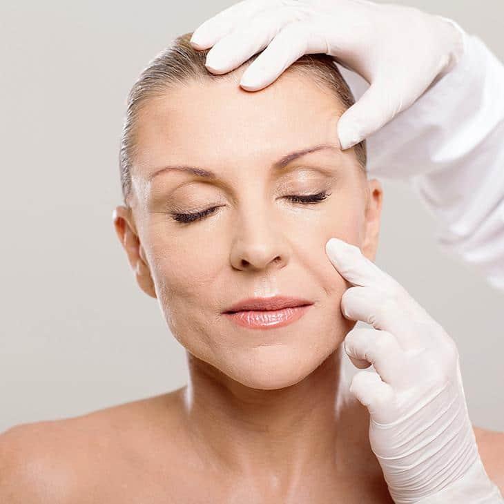 Professional skin examination