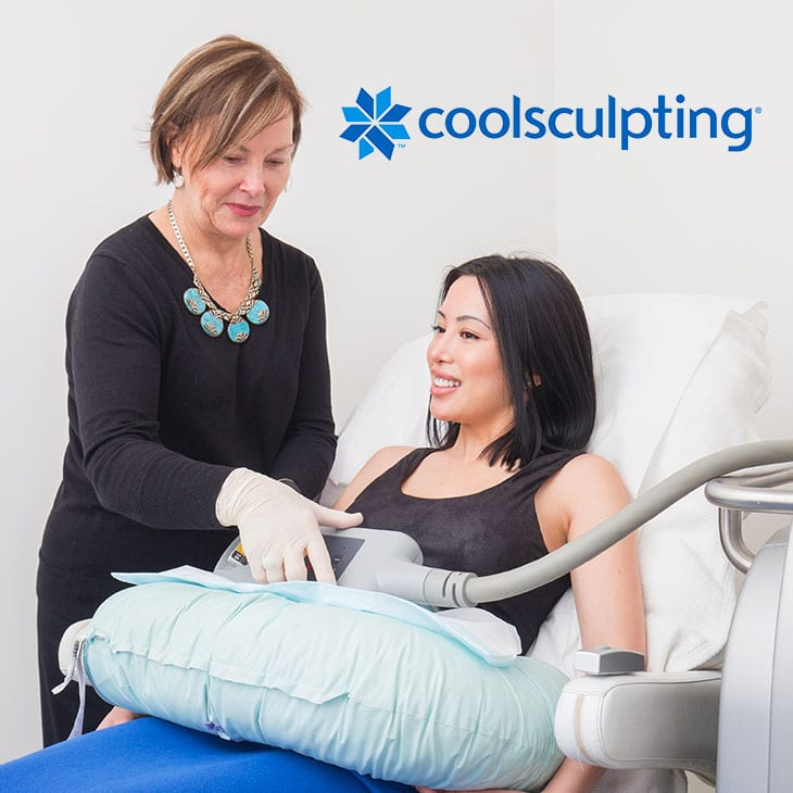 Sydney CoolSculpting treatment in progress