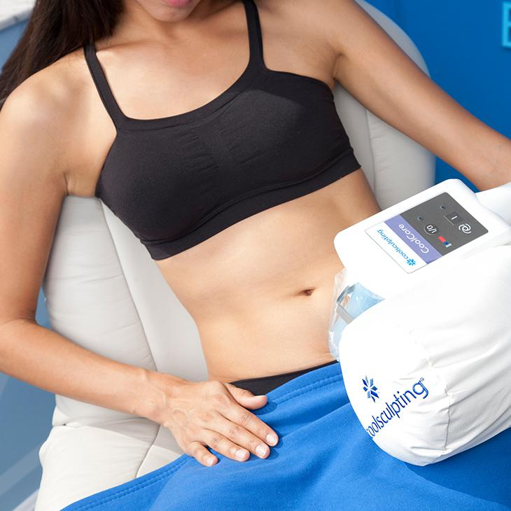 CoolSculpting fat freezing close-up