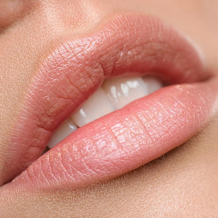 plump lips closeup