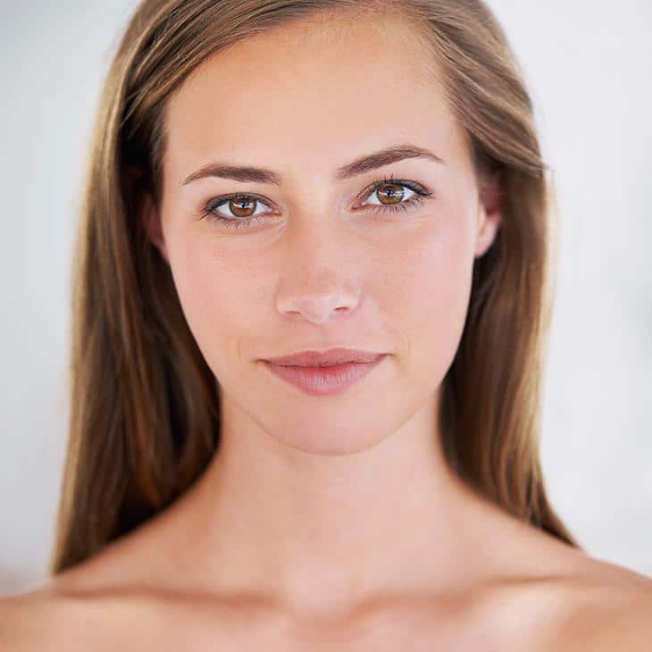Female with perfect skin