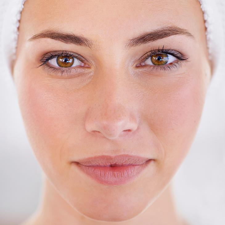 Female with youthful rejuvenated skin