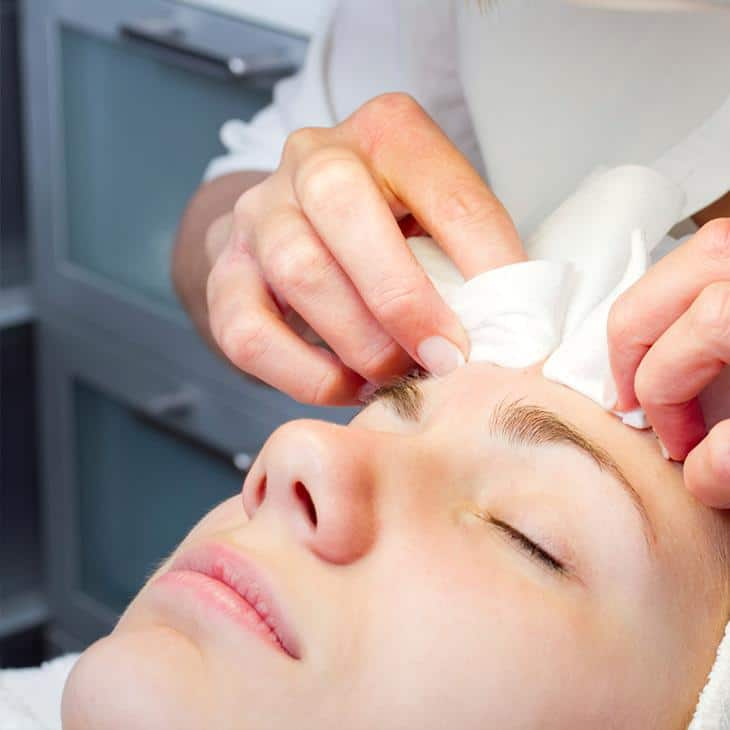 Female facial treatment