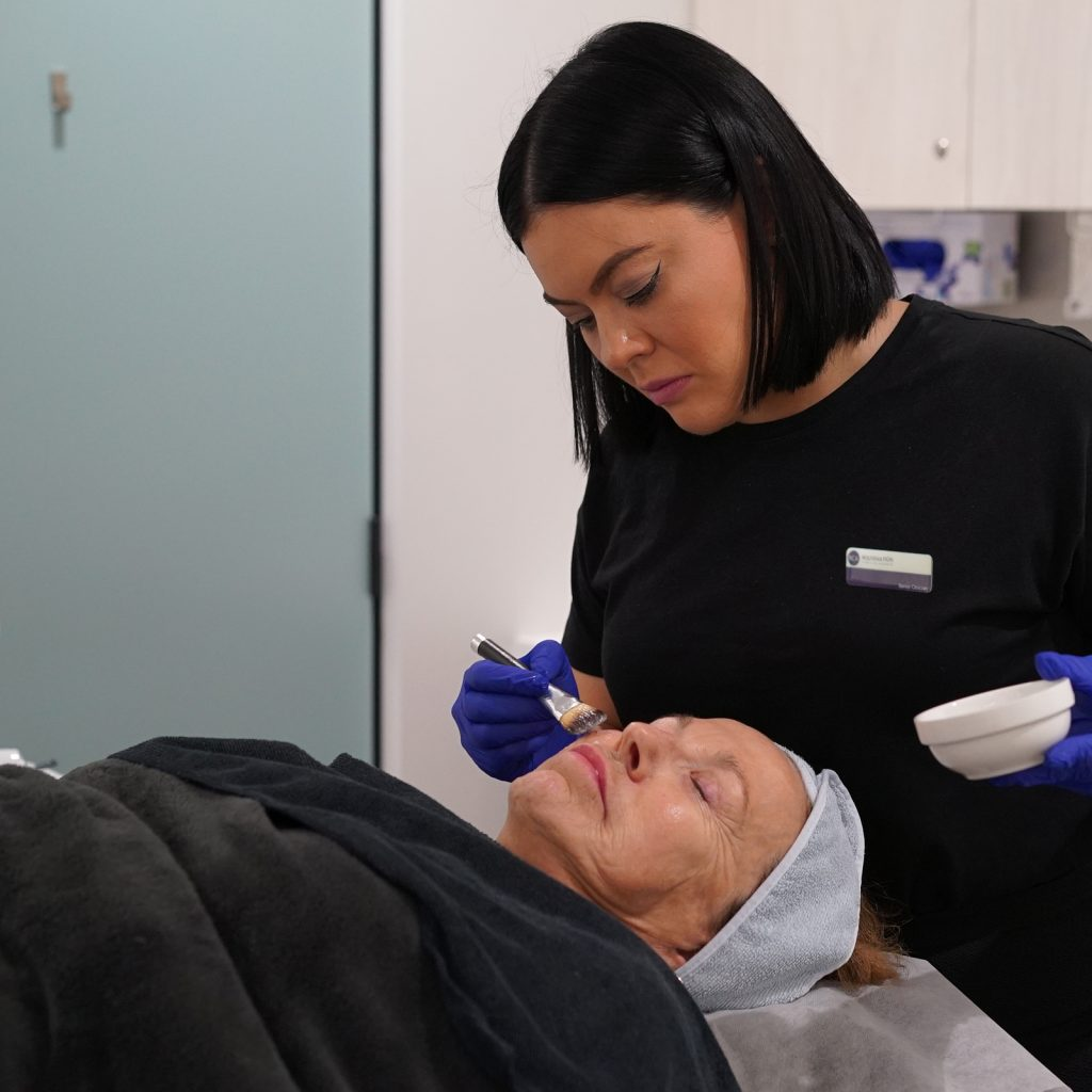 Ultrasound skin tightening procedure